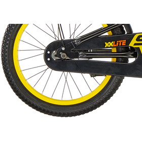s'cool XXlite 18 steel Kinder black/yellow